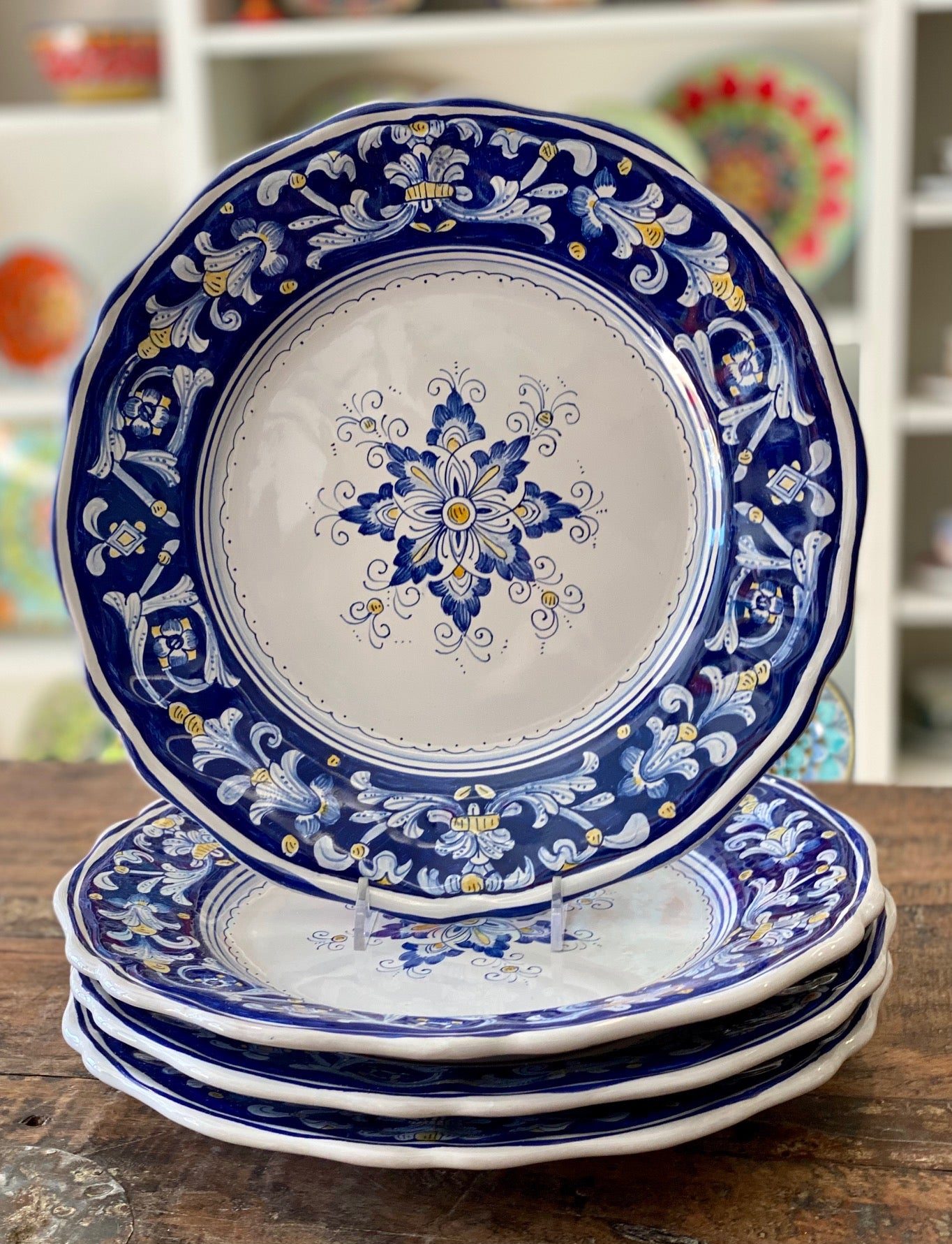 Antico Deruta Dinner Plate, Full Design - Set of 4