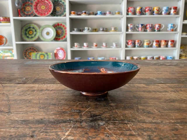 Vignoli 11 Anchovie Low Bowl Turq, Navy and Copper