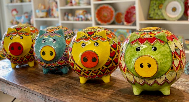 Large Green Peacock Piggy Bank | PREORDER