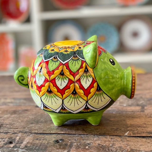 Green Peacock Piggy Bank