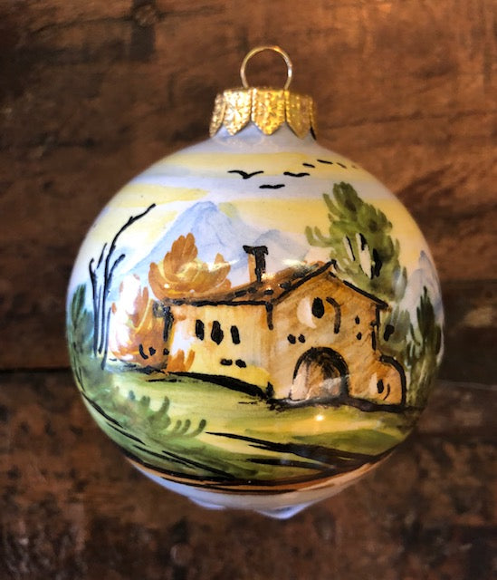 Personalized Italian Countryside Ornament