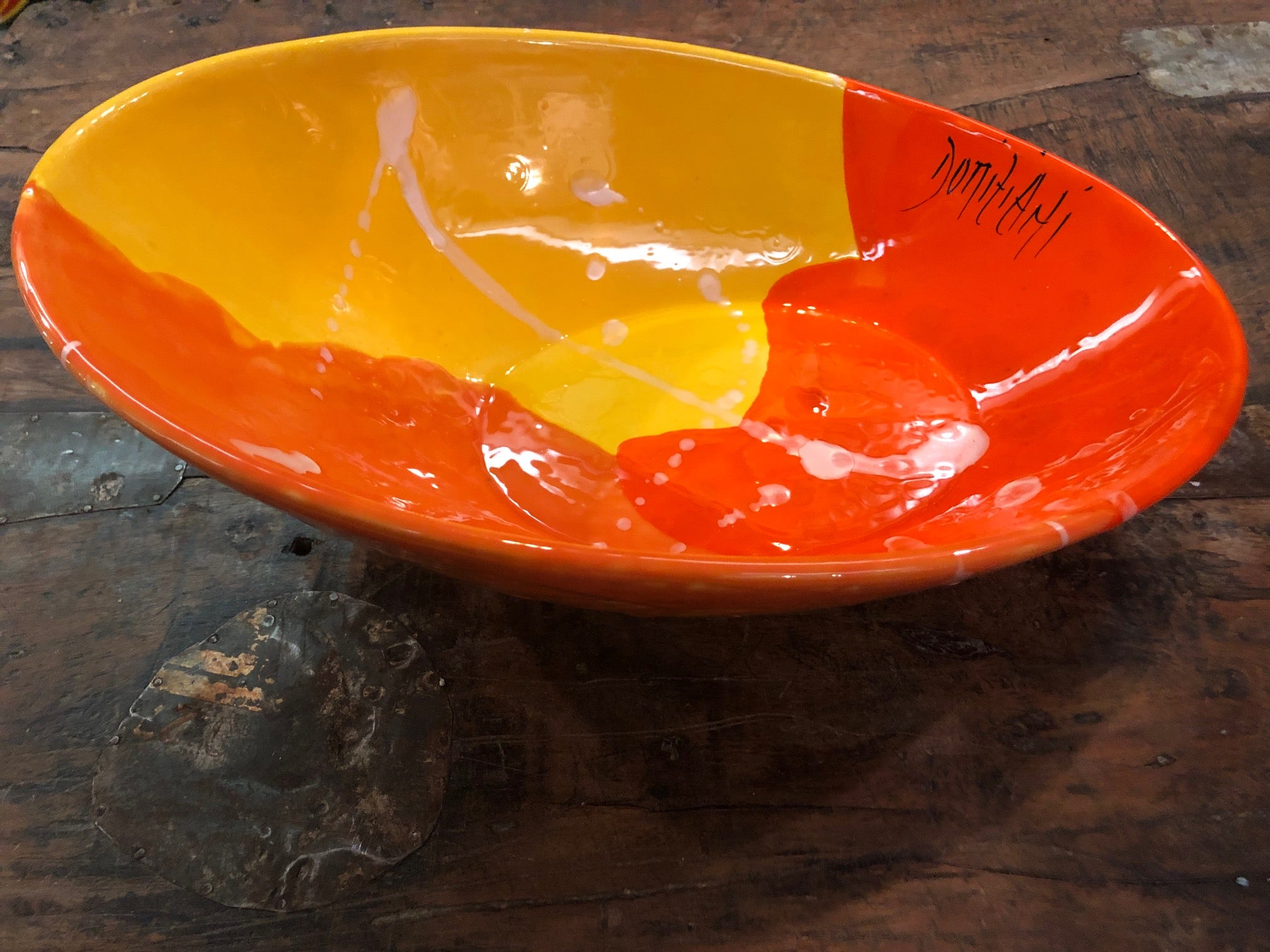 Domiziani Oval & Oblique Bowl - large COD 06