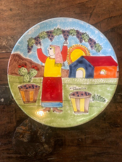 Pre-owned Parrucca Grape Picking Plate