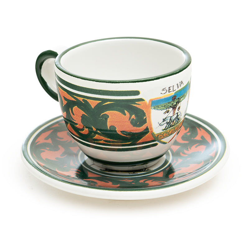 Contrade From Siena, Rhino Espresso Cup and Saucer