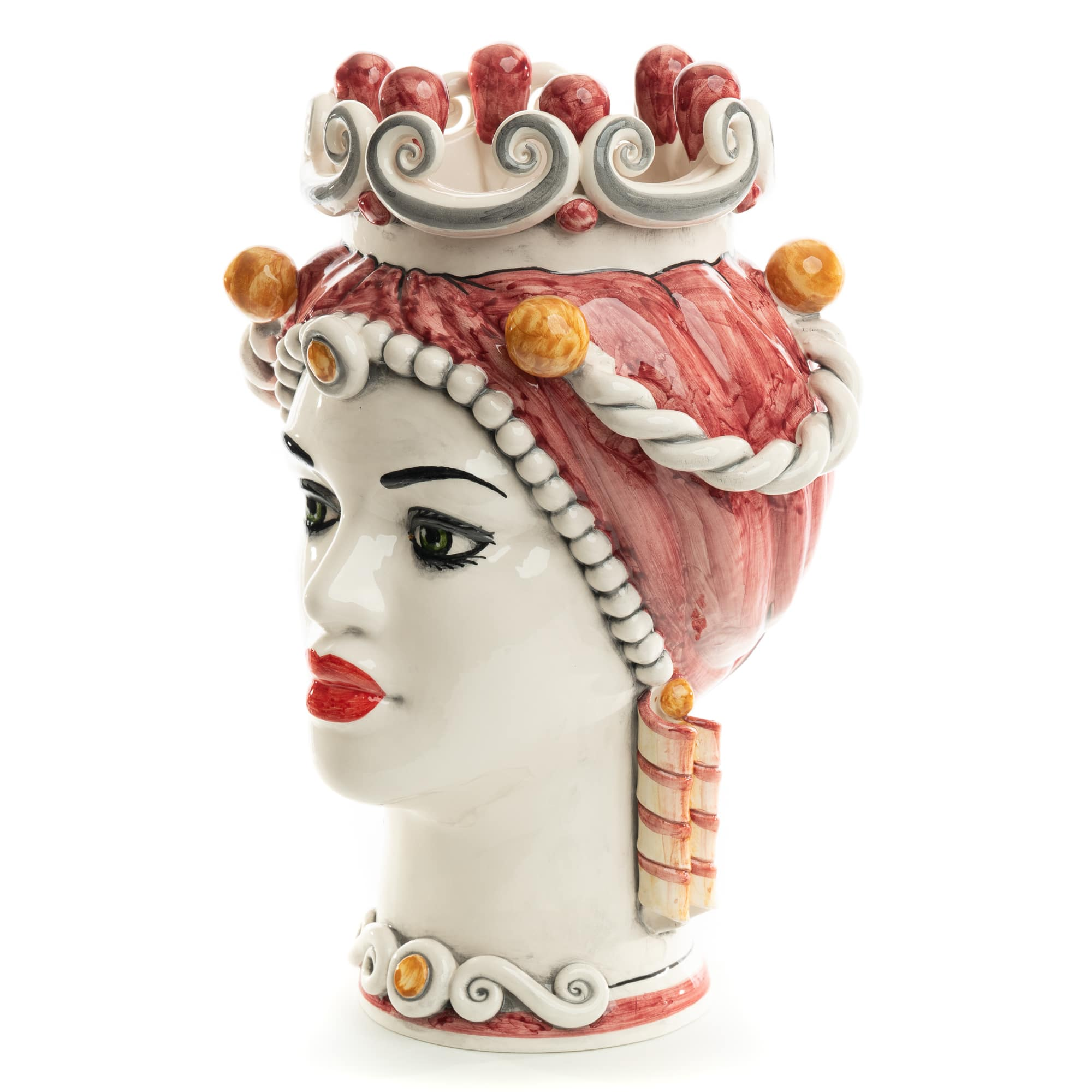 Schittone Modern Regina Moorish Head in Rose