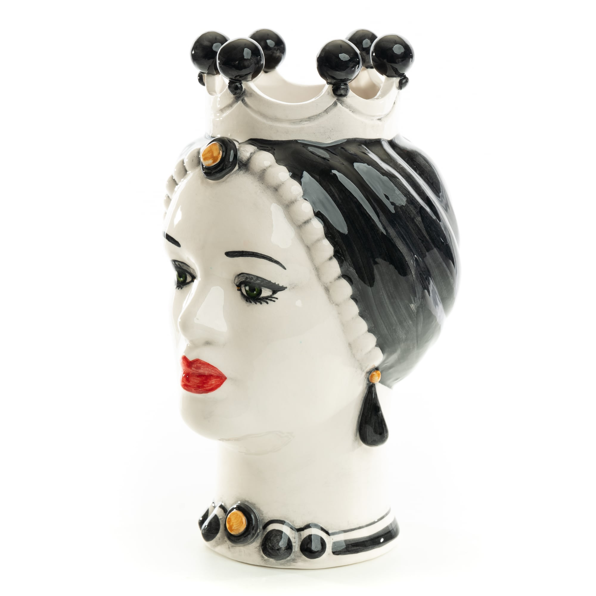Schittone Modern Regina Moorish Head Black & White Small