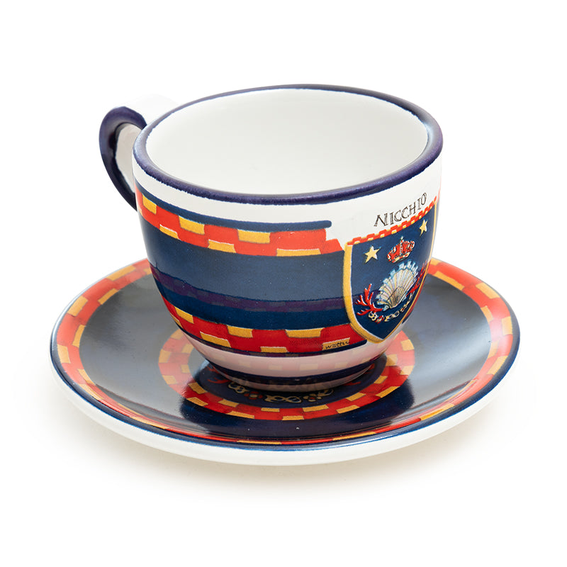 Contrade From Siena, Shell Espresso Cup and Saucer