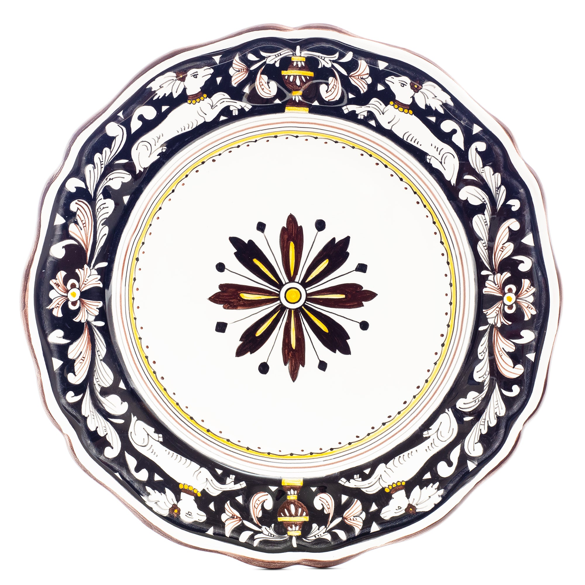 Siena Dinner Plate, Full Design, Biordi dishes, Italian Ceramics, Italian Dinnerware, Italian Pottery, Majolica