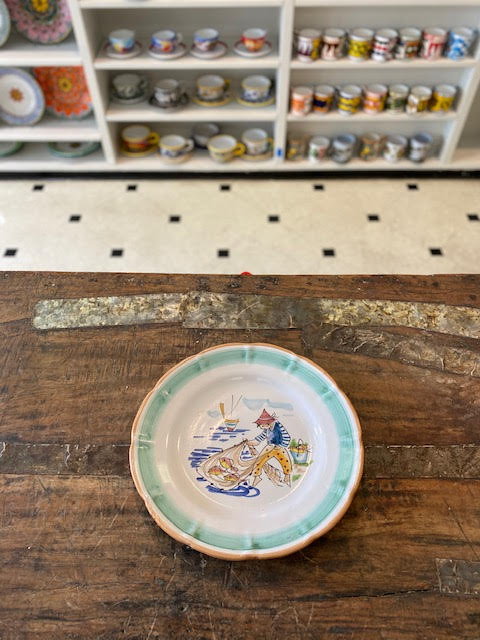 Solimene By Vietri Plate 10 Pre-Owned-Pottery