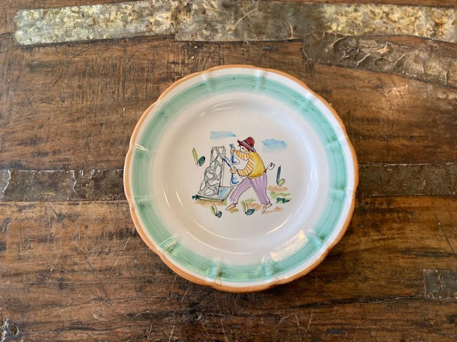 Solimene By Vietri Plate 8 Pre-Owned-Pottery