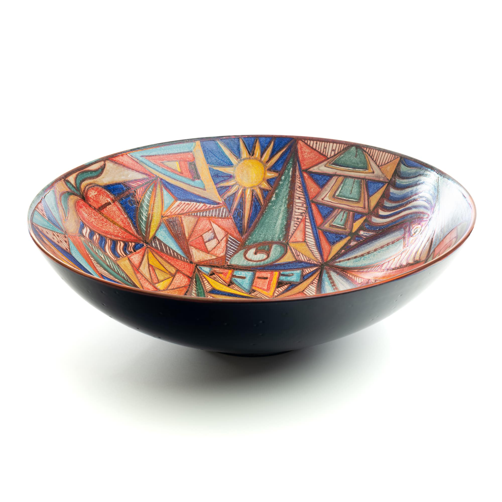 Vignoli large centerpiece bowl abstract art deco