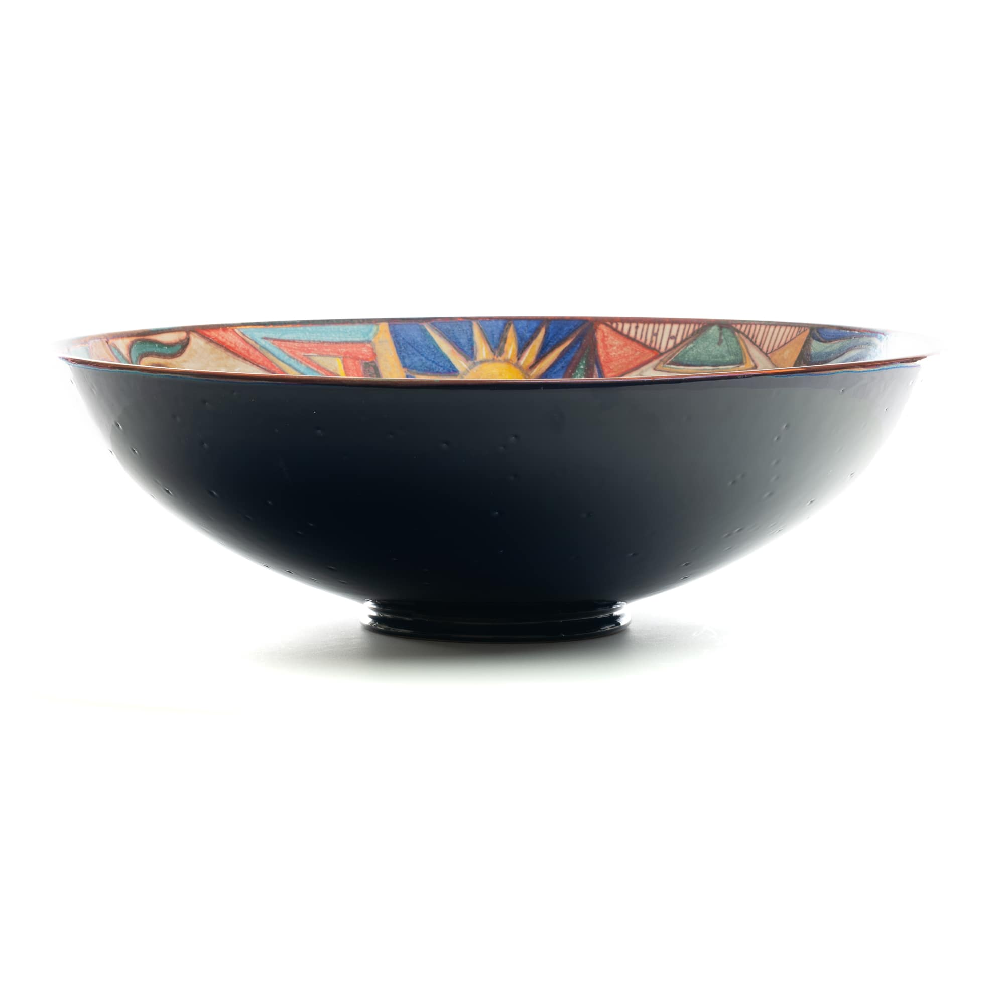 "Vignoli 16"" Large Centerpiece Bowl Abstract Art Deco"