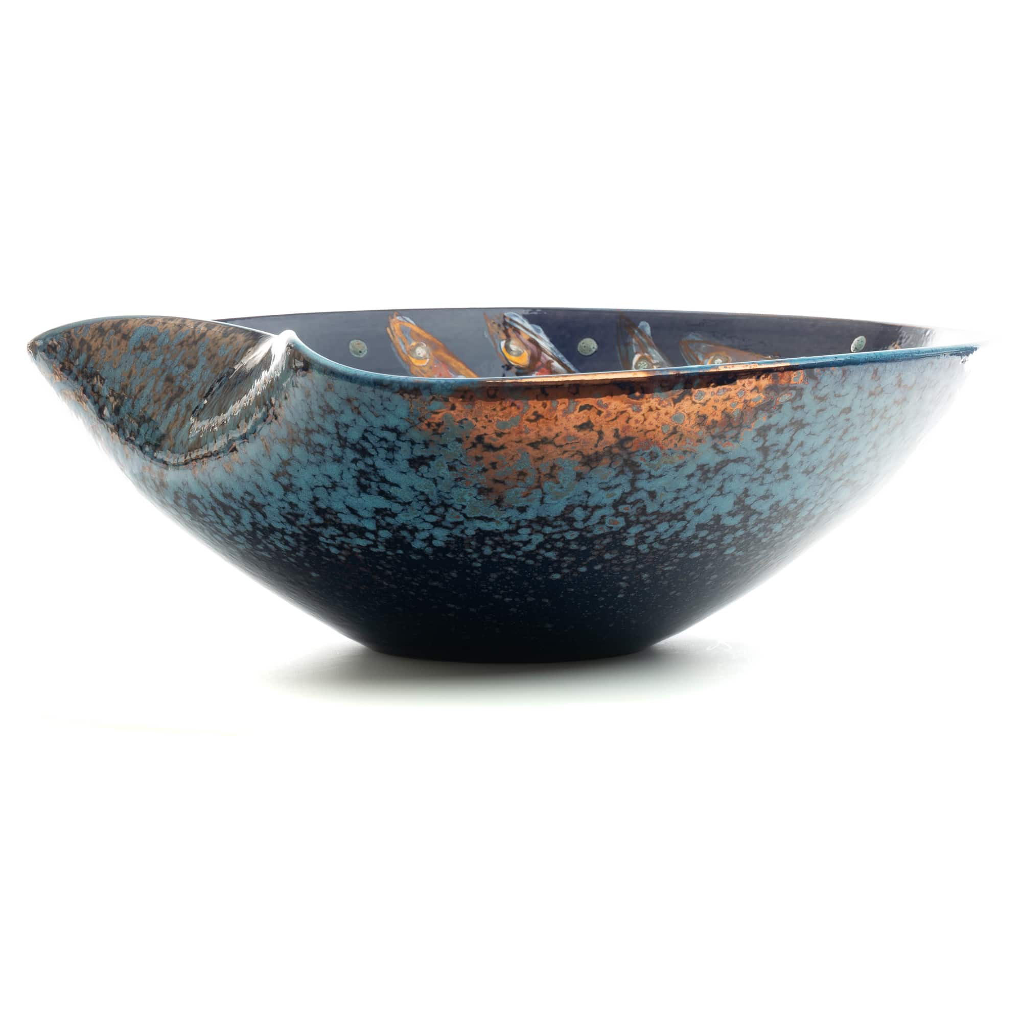 "Vignoli 16"" Anchovie Wave in Chaos Centerpiece Bowl"