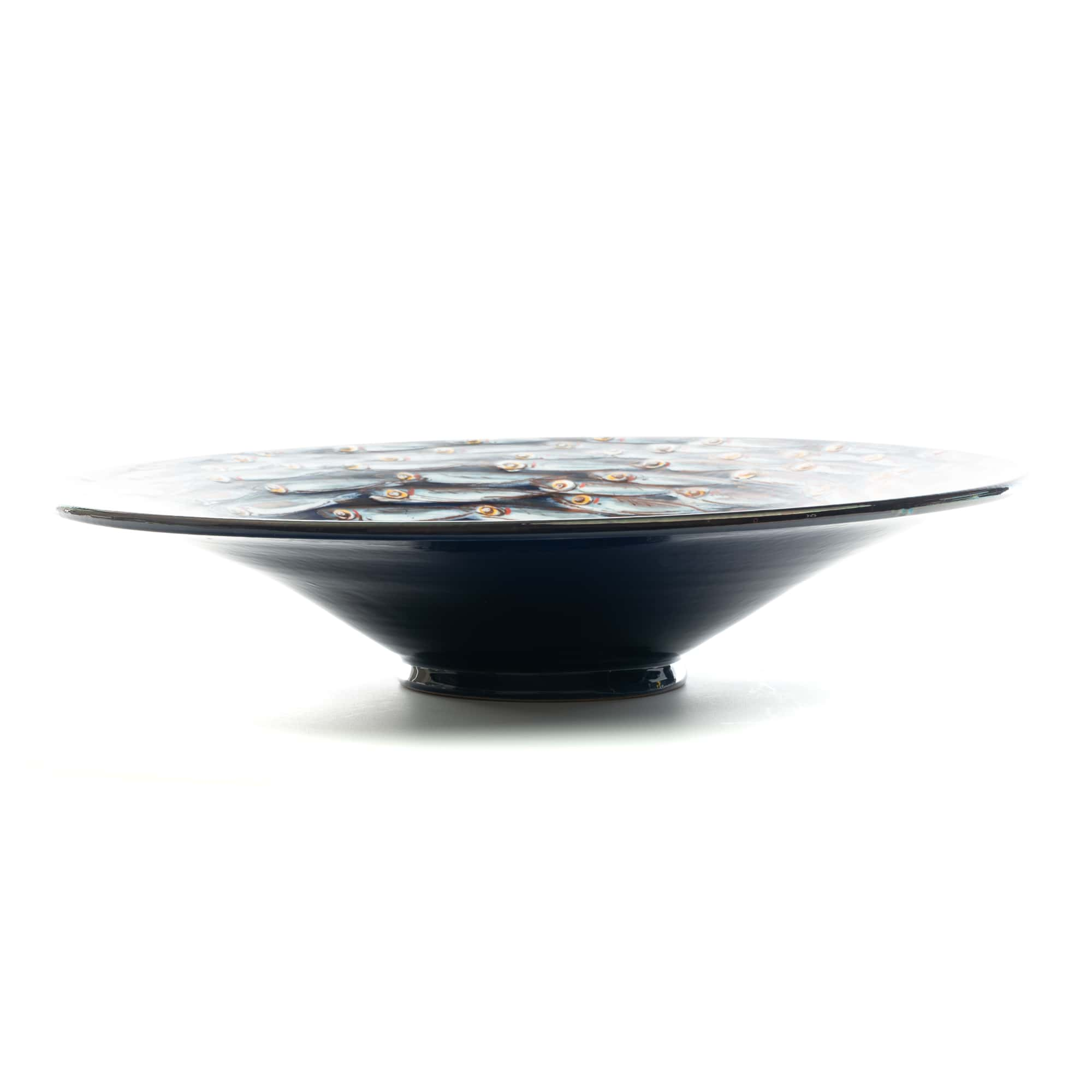"Vignoli 16"" Anchovie Go Round Wall Plate Dark Blue"
