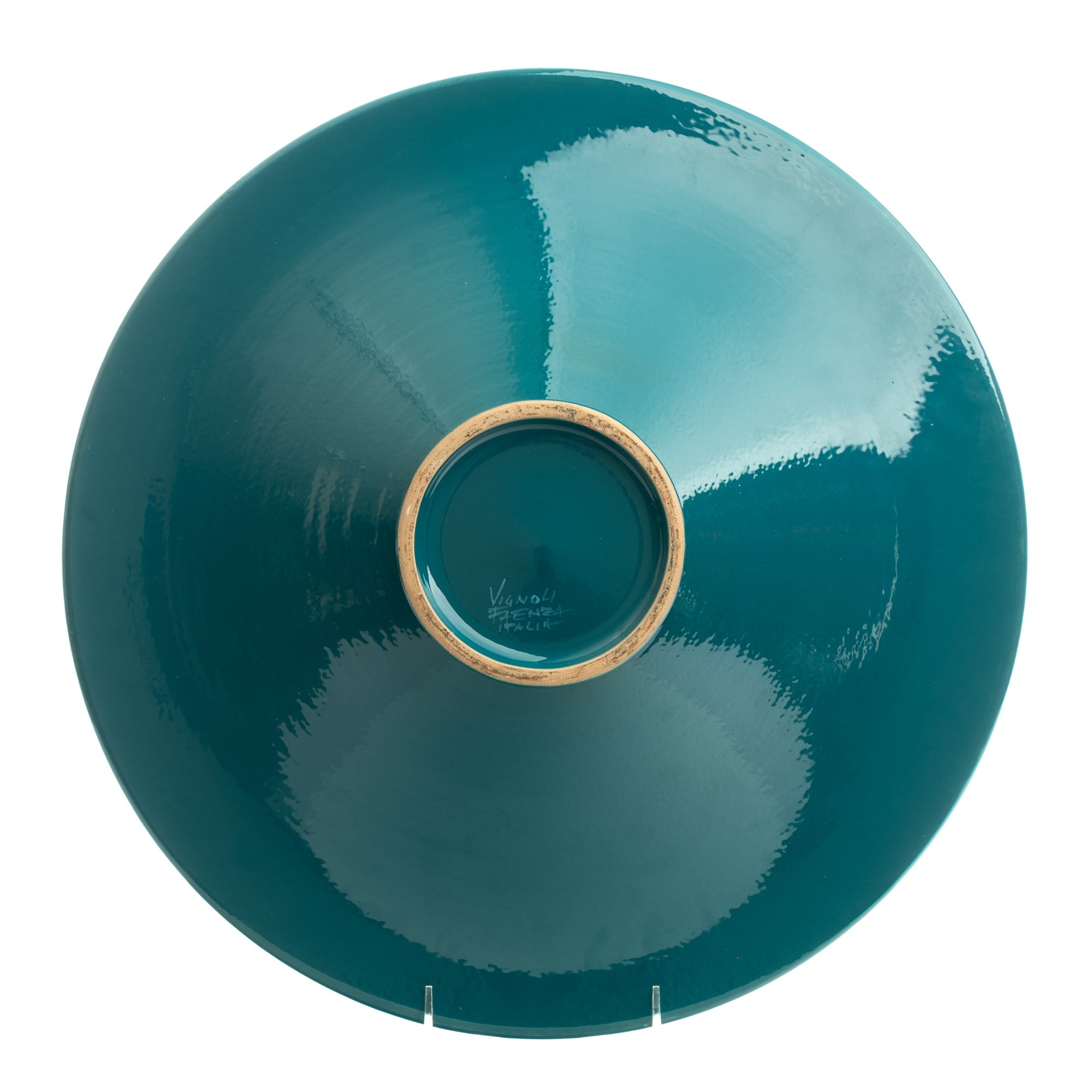 "Vignoli 16"" Teal Anchovie Go Round Wall Plate"