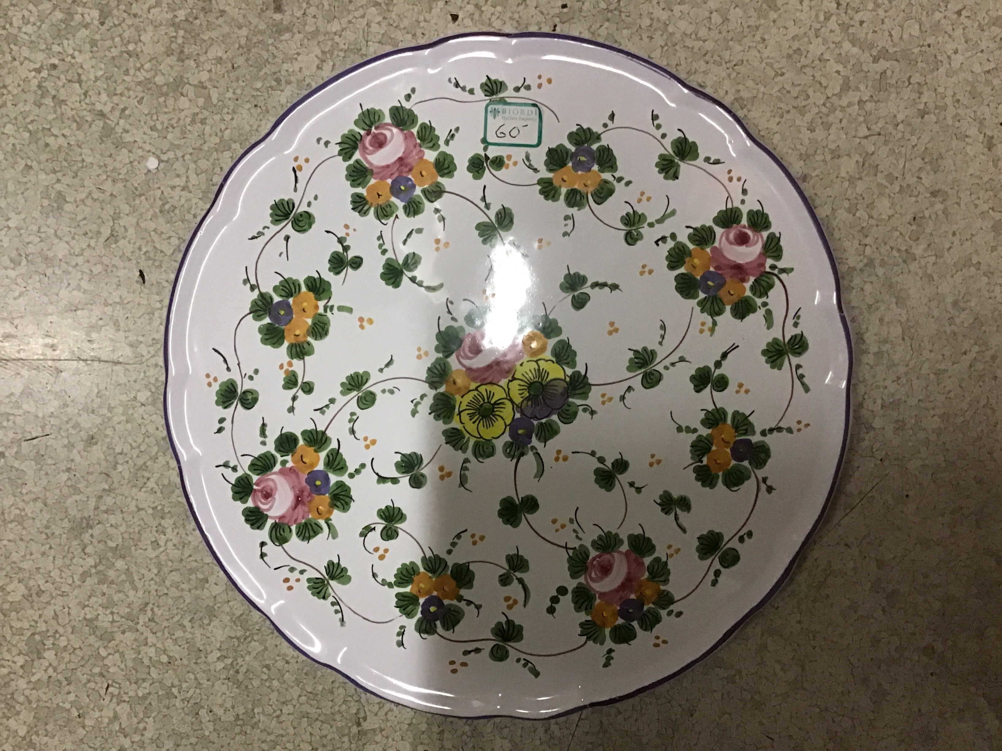 Rosa Cake Plate