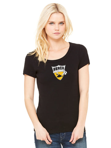 Women's Baby Rib Short Sleeve Scoopneck TShirt