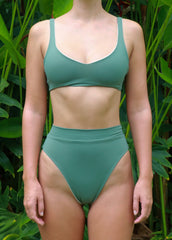 sustainable eco friendly sweetheart pull on swimwear top