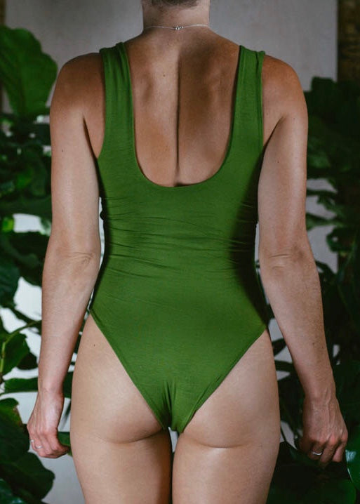 GREEN BAMBOO CANDICE BODYSUIT
