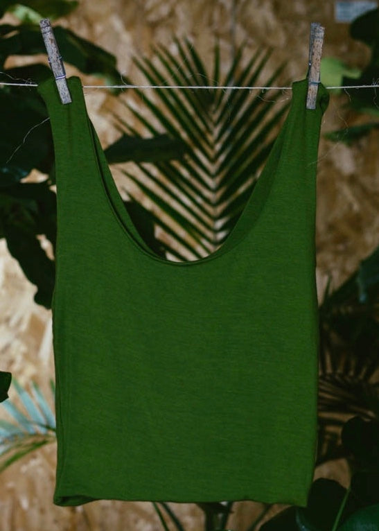 GREEN BAMBOO LEONA TOP