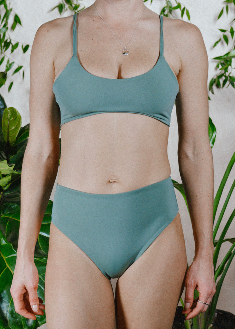 BELLA BOTTOMS - SAGE/SHELL