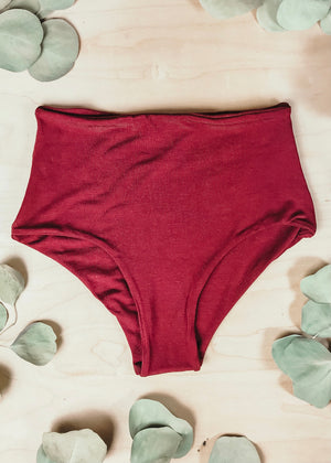 BAMBOO CLASSIC HIGH WAISTED BOTTOM  -  FIRE
