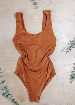 BAMBOO CANDICE BODYSUIT - CLAY