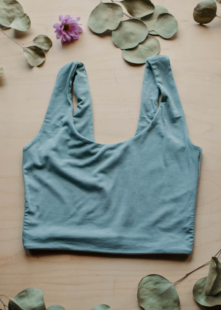 LOUNGE LEONA CROP TOP - JADE