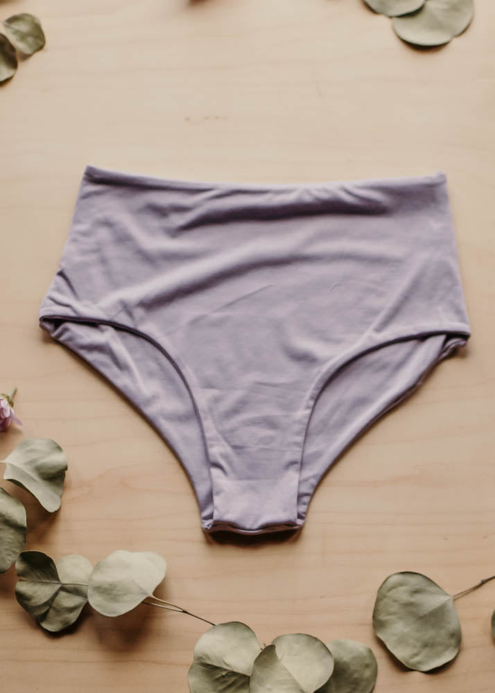 LOUNGE CLASSIC HIGH WAISTED BOTTOM  -  LAVENDER