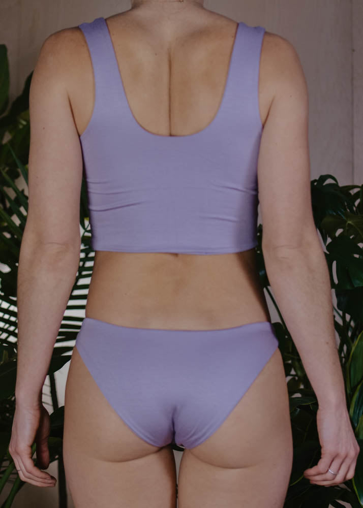 LOUNGE LEONA CROP TOP - LAVENDER