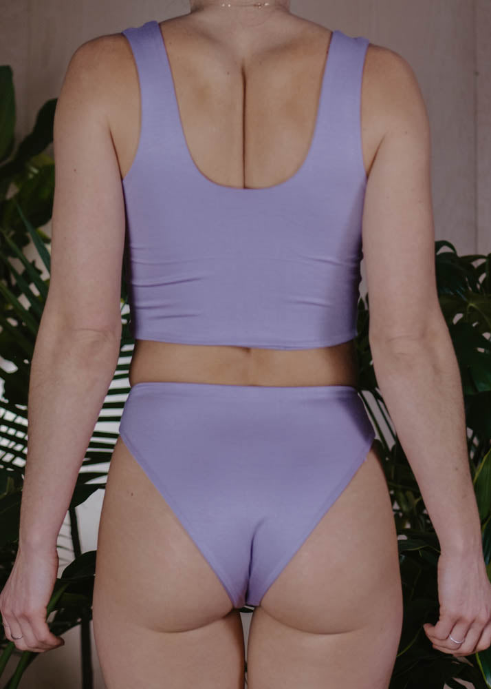LOUNGE CHEEKY HIGH WAISTED BOTTOM  -  LAVENDER
