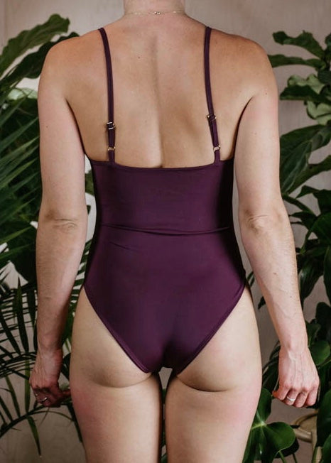 SMALL - MONTANA BODYSUIT - PLUM