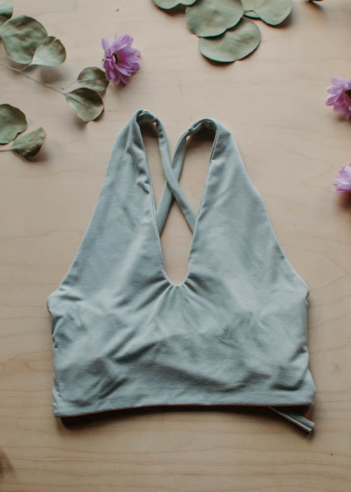 LOUNGE RAMONA CROP TOP - SAGE
