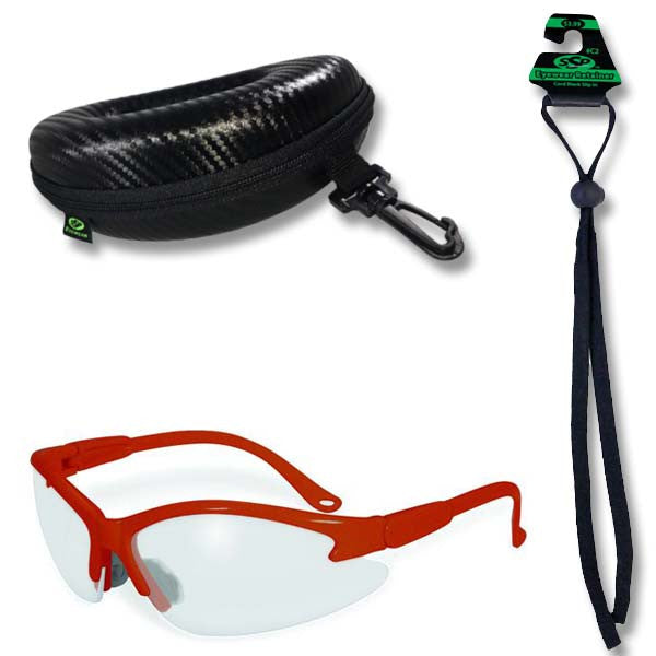 Columbia Safety Glasses, Case and Cord