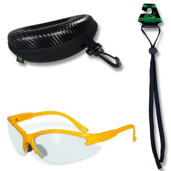 Columbia Colored Safety Glasses, Case and Cord