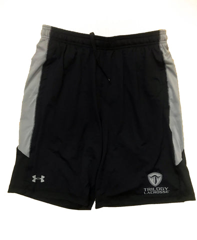 Trilogy Lacrosse Logo Shorts Black & Gray