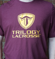 Trilogy Limited Edition Gold Stacked T Shirt - Maroon