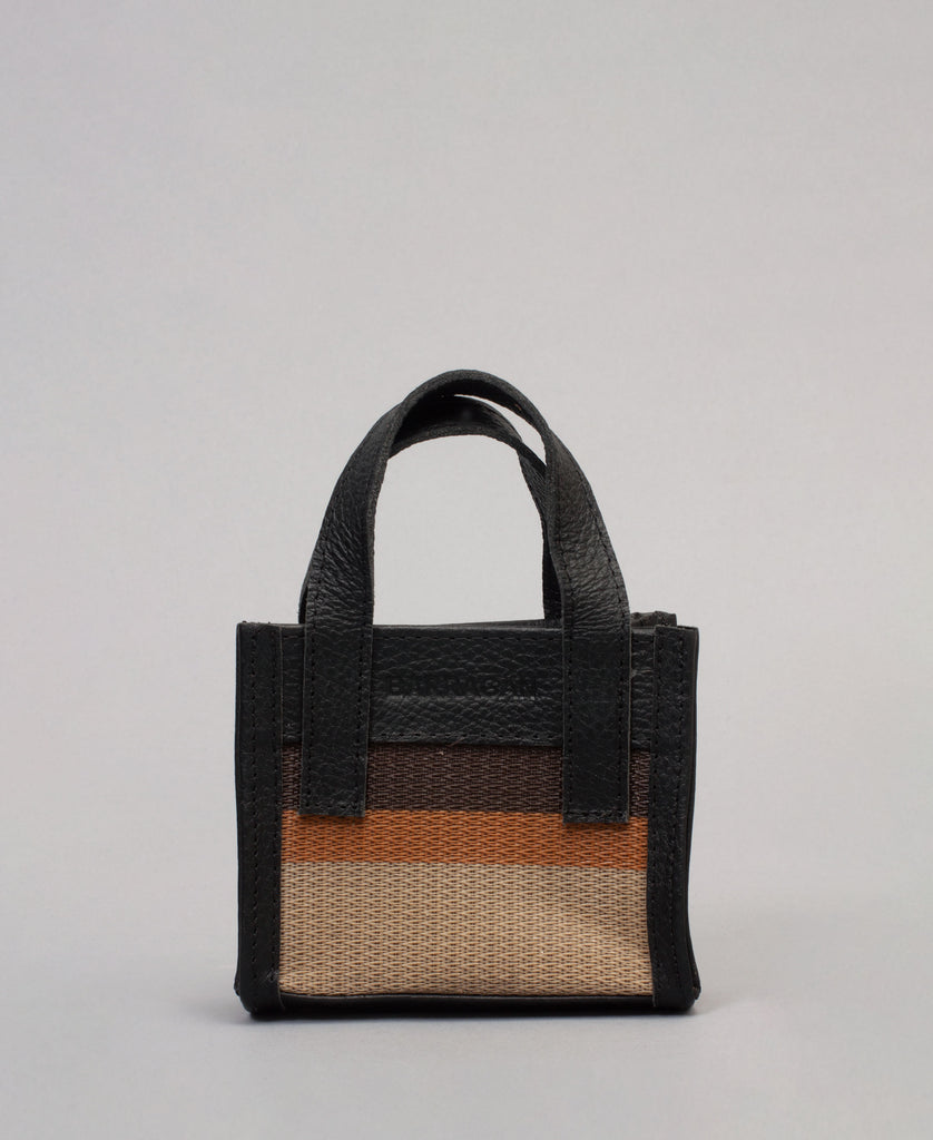 MENOS HANDFUL BAG (color: brown stripes)