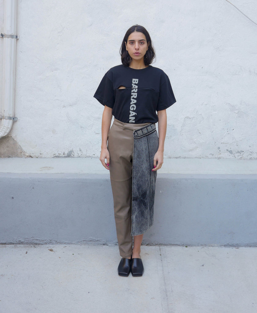ASYMMETRICAL PANT SKIRT