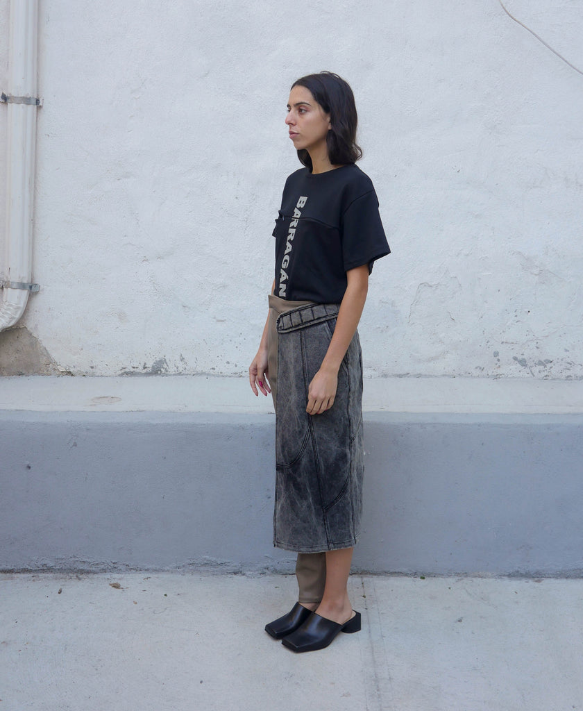 Deconstructed Pant Flap Skirt