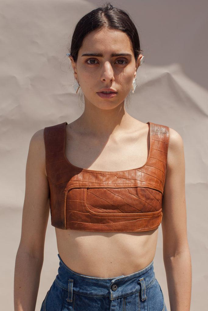 Tan Deconstructed Top