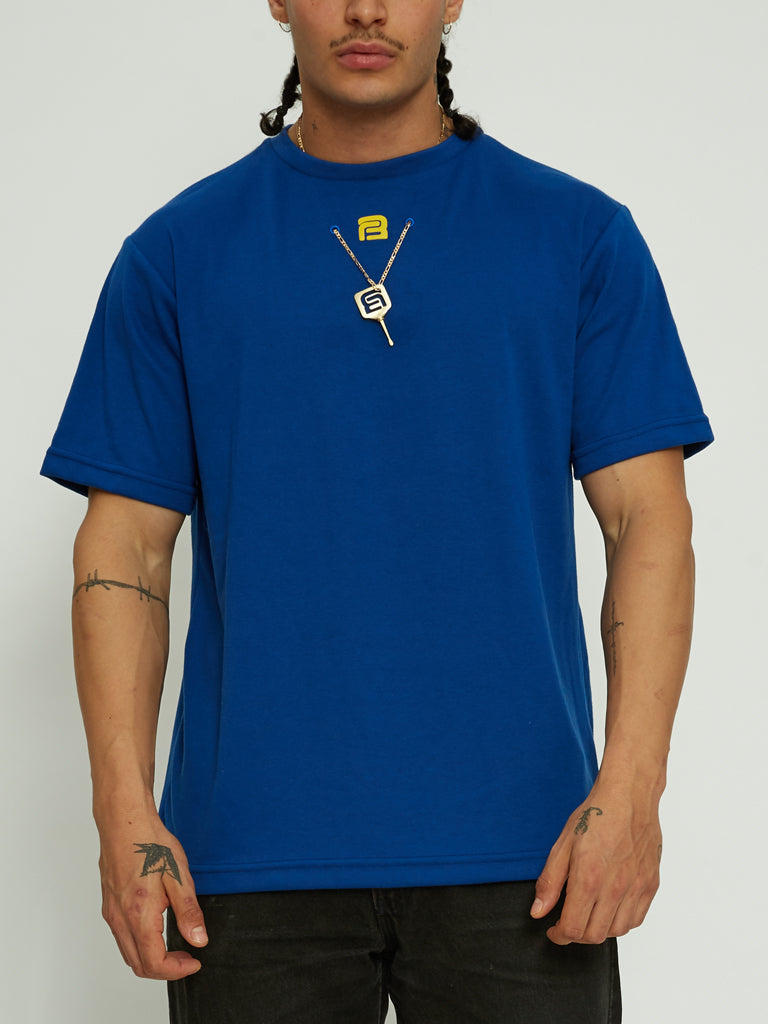 Marino Chain Monogram Necklace Tee