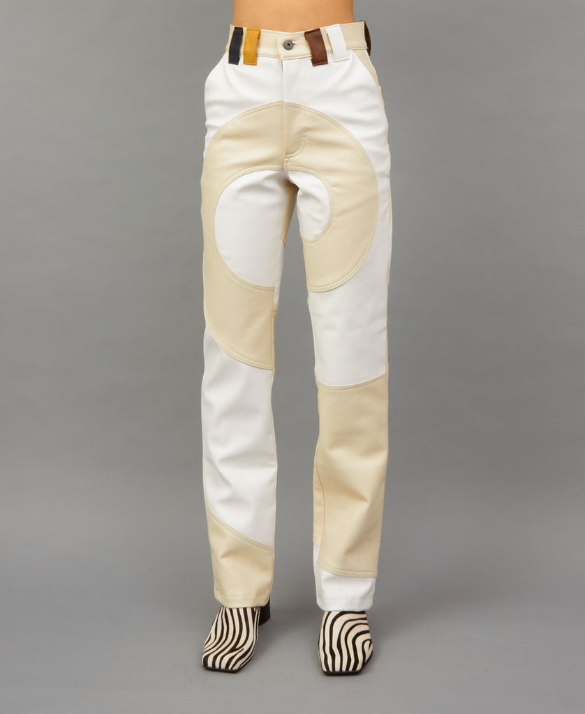 COSMIC SPIRAL PANTS (color: cream + white)