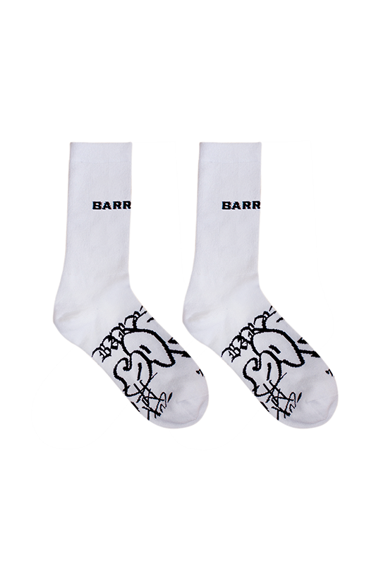 GRAFFITI WHITE SOCKS *FREE SHIPPING WORLDWIDE*