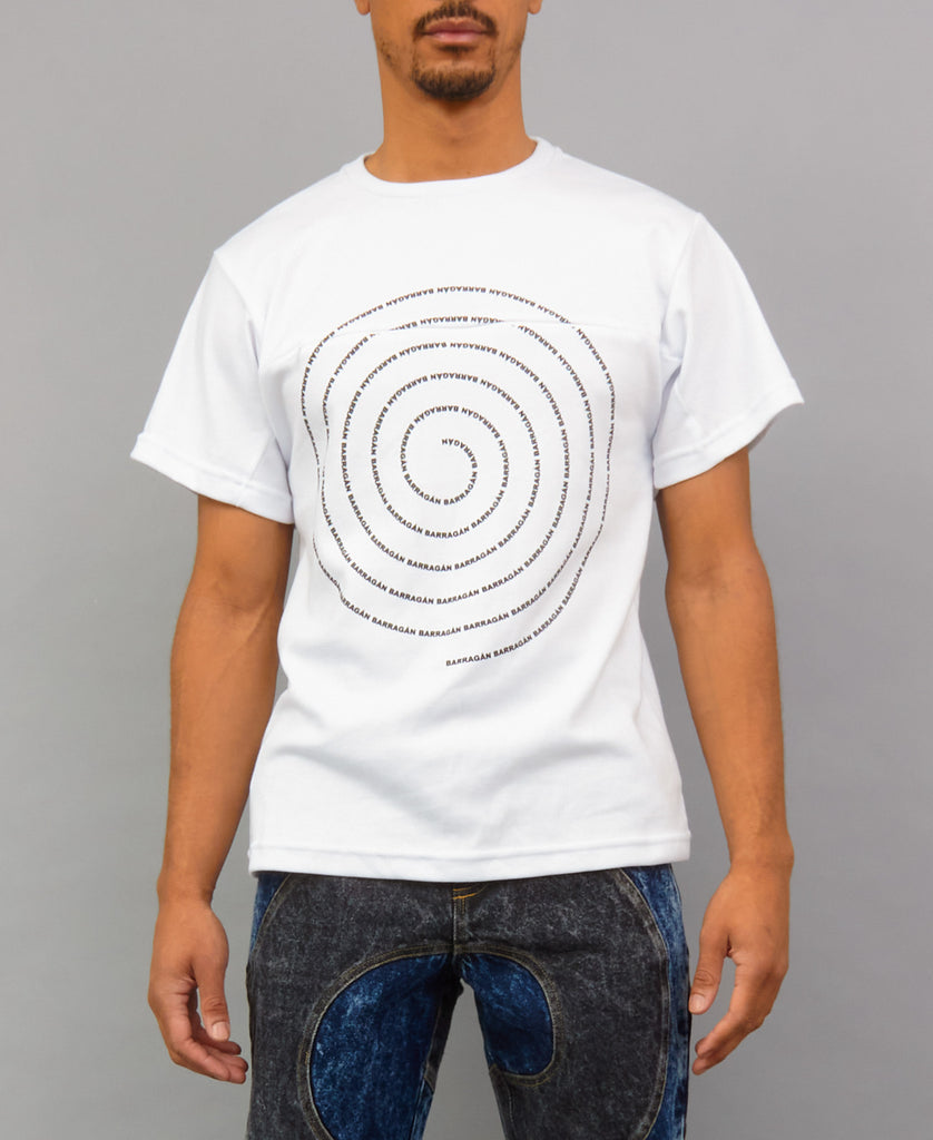 SPIRAL ZIPPER T-SHIRT