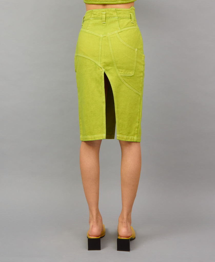 TRABAHOE WORKWEAR SKIRT (color: lime)