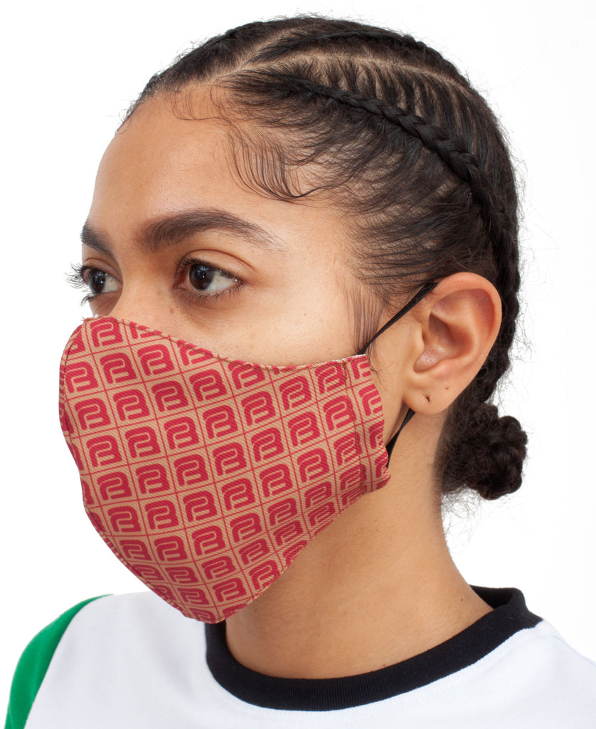 MONOGRAM FACE MASK (color: red)