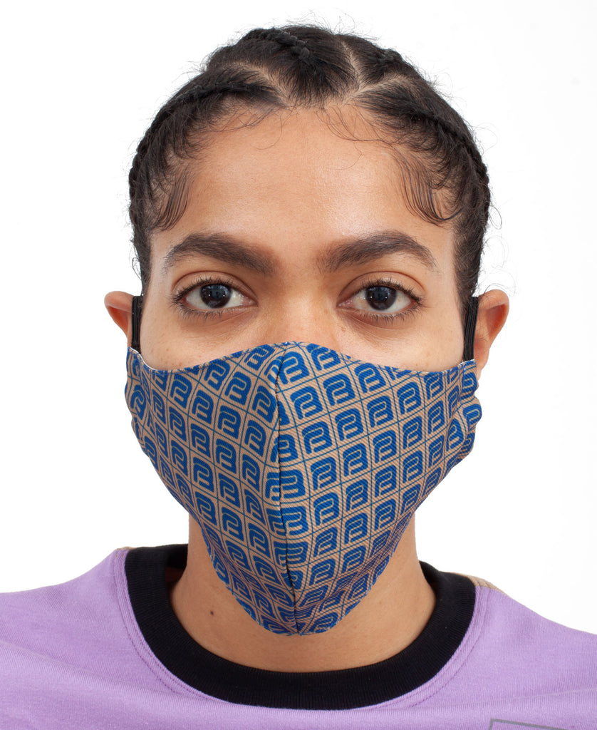 MONOGRAM FACE MASK (color: brown)