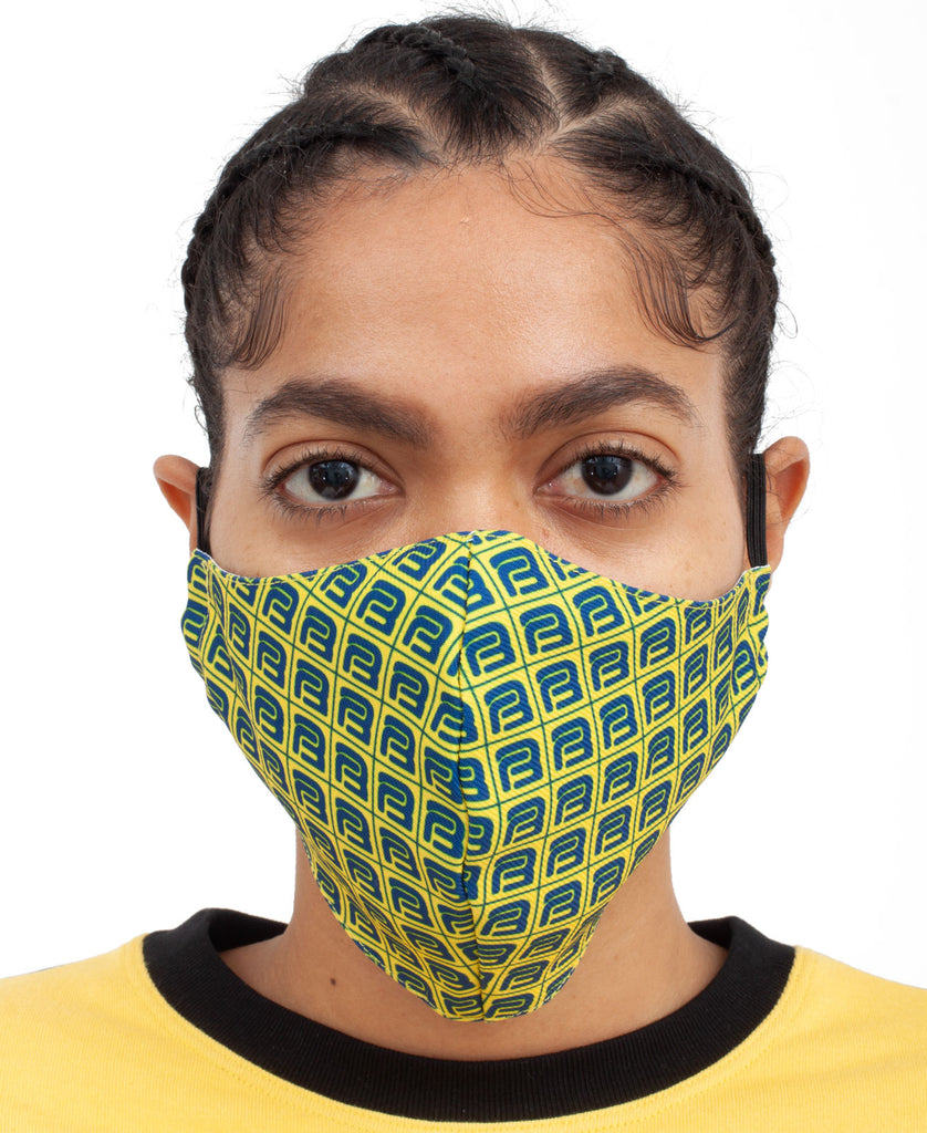 MONOGRAM FACE MASK (color: yellow)
