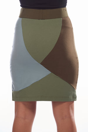 Green-Blue Mosaic Skirt - FOAT